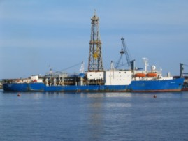 IODP research vessel, the Joides Resolution