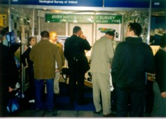 Crowd at exhibit stand at Oceanology 04