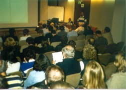 Mick Goeghegan addressing the INSS Seminar November 2003